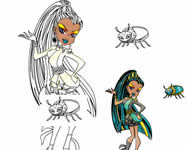 Monster High coloring 2 online j�t�k