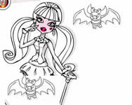 Monster High coloring Draculaura Monster High j�t�kok ingyen